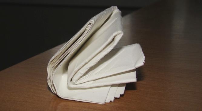 сложенный 42 раза лист бумаги