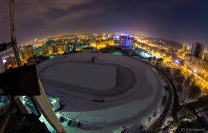 каток на стадионе Зенит в Ижевске