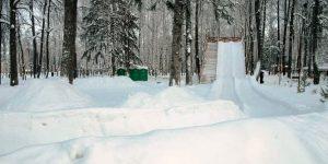 Две тюбинговые трассы в парке Космонавтов