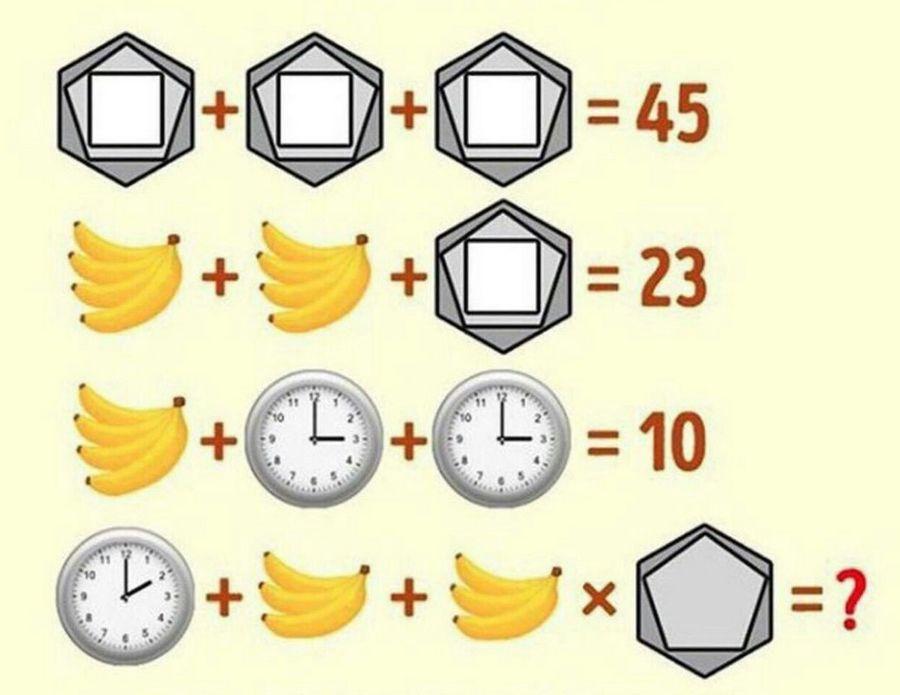 Как выглядит задача про бананы и часы