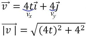 Как найти модуль вектора скорости