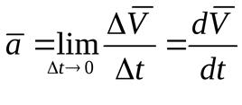 Формула вектора ускорения точки