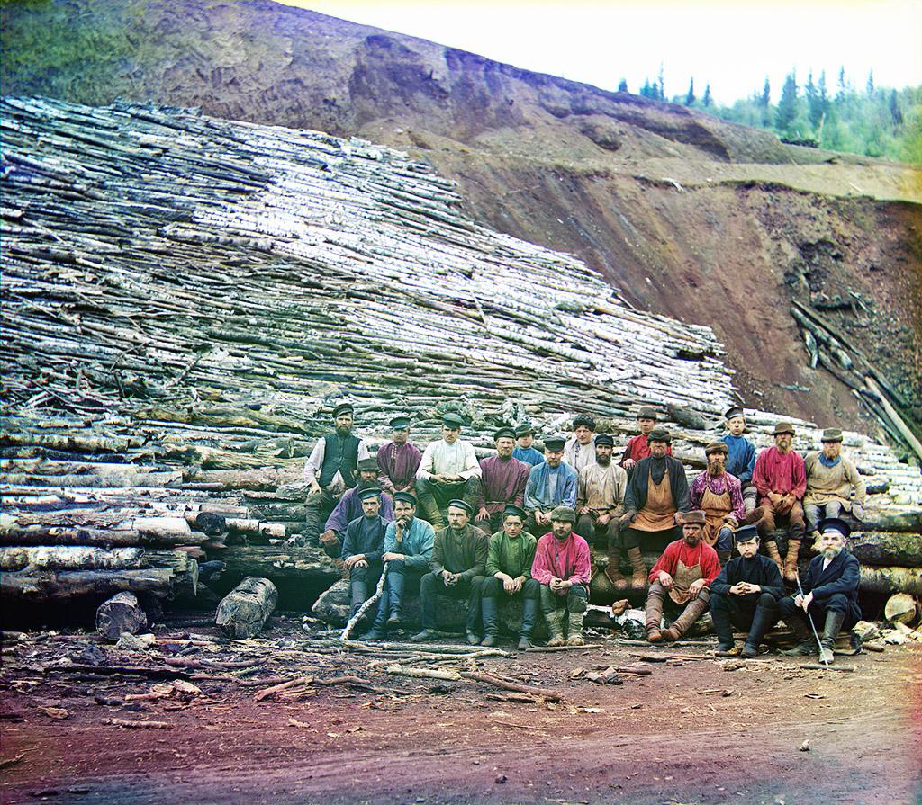 Прокудин-Горский, фотографии с лесом